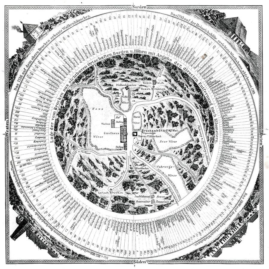 Brockenaussicht - alte Karte (JPG)