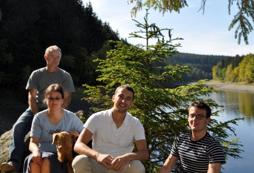 Familie Barthel am See